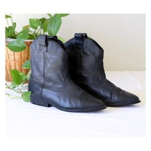 Vtg Sam & Libby Cowboy Leather Boots